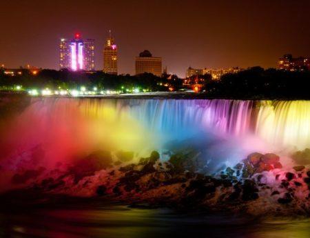 Ниагарският водопад през нощта, Канада