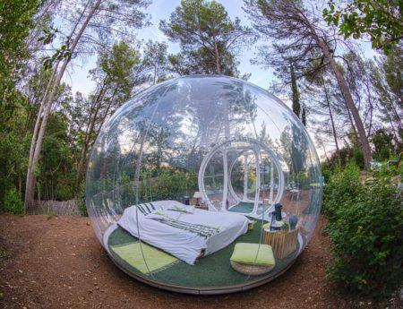Да спиш под звездите в прозрачен балон