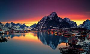Рейн, Норвегия – Старомодното селце, спиращо дъха