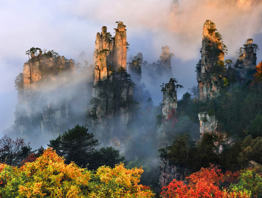 Върховете на Тианзи през есента