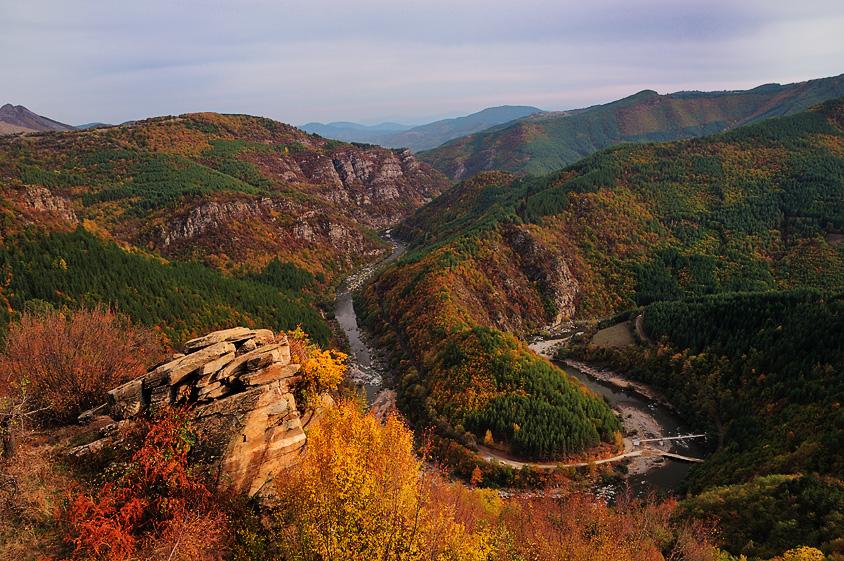 Есен по меандрите на река Арда