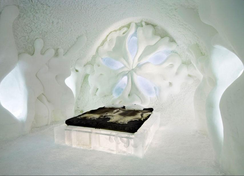 Стая в Леден Хотел Юкасярви по дизайн на Поборникова и Царски