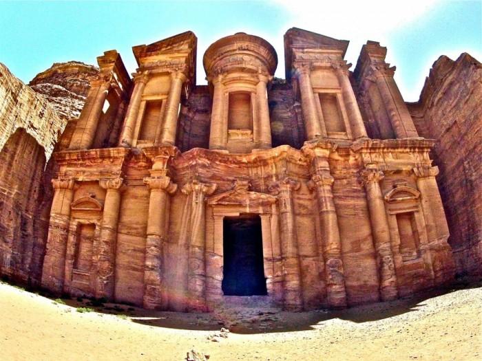 the Monastery of Petra, Jordan