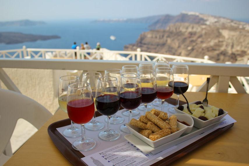 Дегустация на вино на Санторини