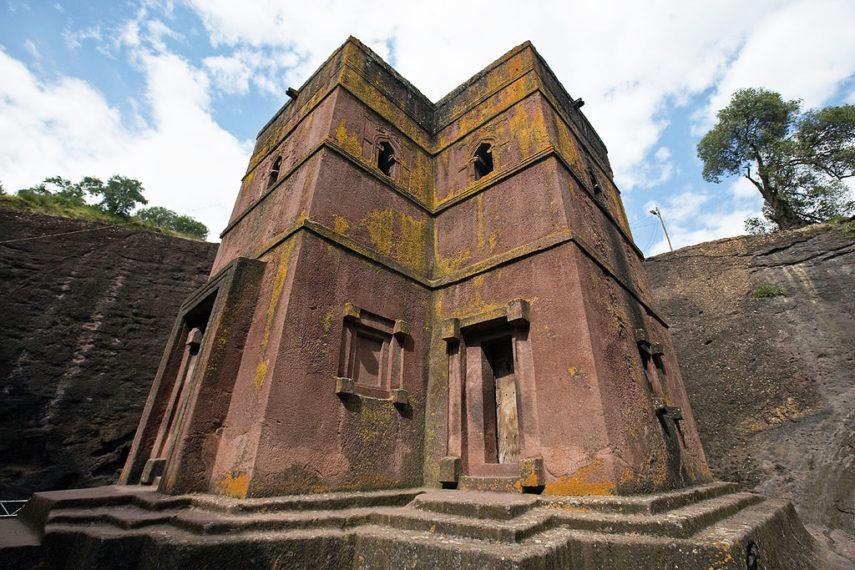 Църквата Бет Гиоргис в Лалибела, Етиопия